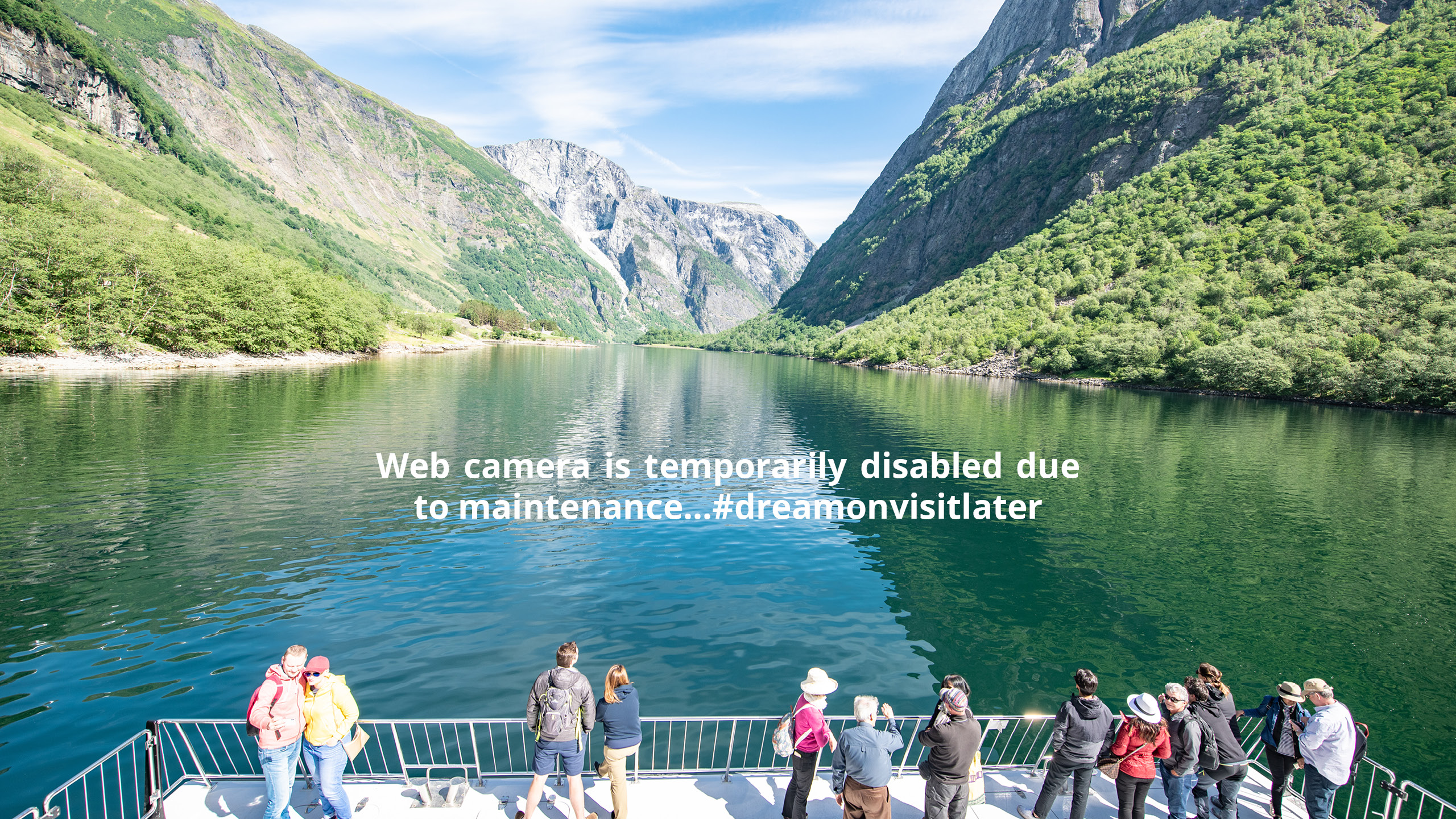 Webcam onboard Legacy of The Fjords - Fjord Cruise Naeroyfjord